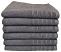 Egyptian cotton bath towel charcoal color