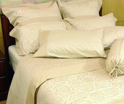 Silk Cotton Sheet Sets - Swirl Rose