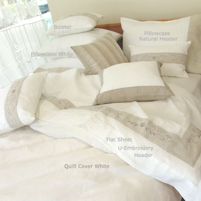 Pure Linen King Size Quilt Cover