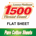 1500TC Cotton Flat Sheets