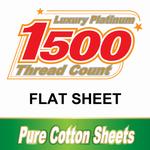 1500TC Cotton Flat Sheets