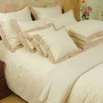 Natural Brown Fine Stripe Sheet Sets
