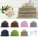 Egyptian Cotton 8 Pieces Bath Sheet Combo Set