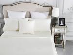 Luxury 1800TC Cotton Rich Single Sheet Sets Ivory