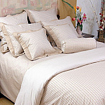 Brown Waffle Check Duvet Cover Sets
