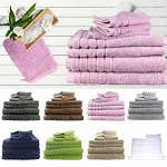 Egyptian Cotton 7 Pieces Bath Sheetss Combo Set