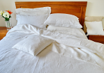 Pure Linen Sheets King Size Plain White