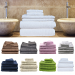 Egyptian Cotton 6 Pieces Bath Sheets Combo Set