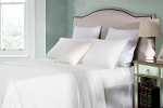 Cotton Rich King Single Sheet Sets 250TC Percale Ivory