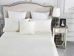 Luxury 1800TC Cotton Rich Queen Sheet Sets Ivory