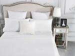 Luxury 1800TC Cotton Rich Single Sheet Sets White