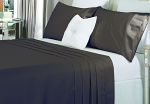 Luxury 1500TC Cotton Fitted Sheet Sets Charcoal